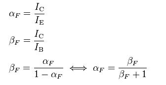 Beta y Alpha de un transistor BJT