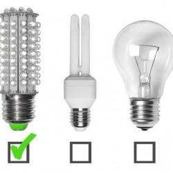 Tres tipos distintos de lamparas que se utilizan en la actualidad