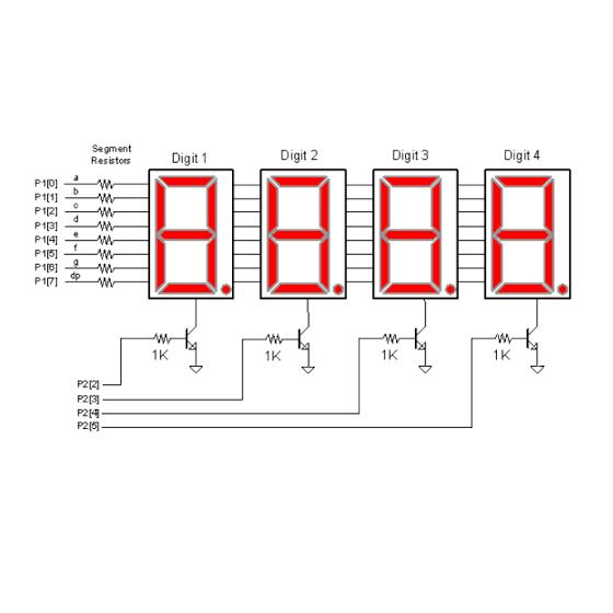 multiplexar display 7 segmentos electr nica analogica y digital. Black Bedroom Furniture Sets. Home Design Ideas