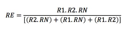 Calculo de resistencia equivalente en paralelo
