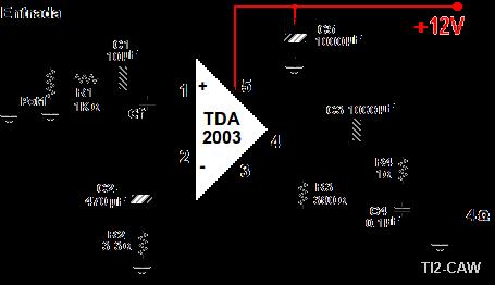 Construir un amplificador de 10W con el TDA2003
