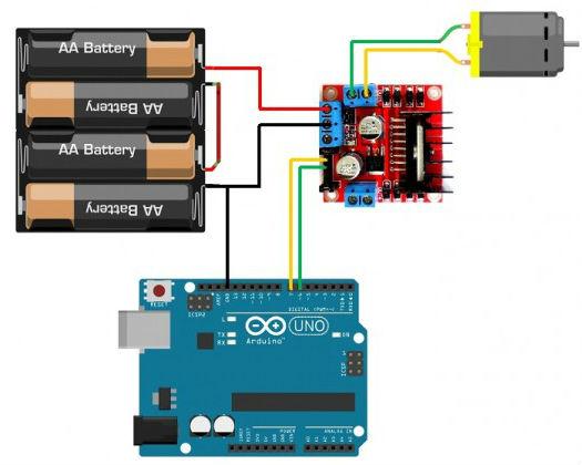 Tutoriales de como usar arduino con el driver l298