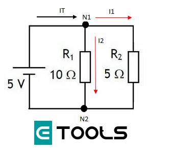 Primera ley de kirchoff circuito de ejemplo