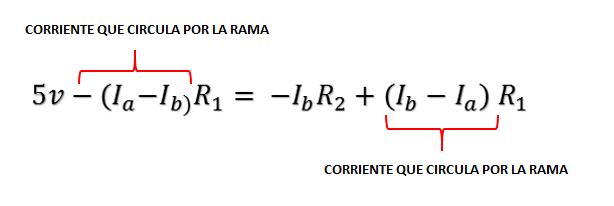 ecuaciones segunda ley de kirchoff