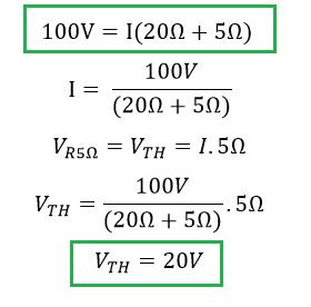 calculo tension de thevenin