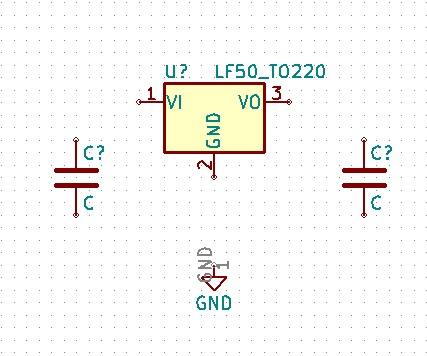 electrontools-regulador de voltaje kicad esquematico