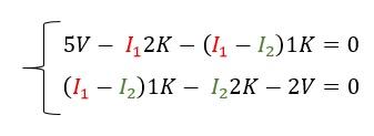 Ecuaciones ley de kirchoff