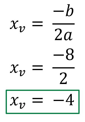 Calcular X del Vertice
