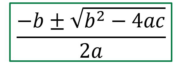 Formula resolvente